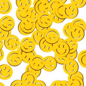 """Confettis """"Smileys jaunes"""" 28 g"""