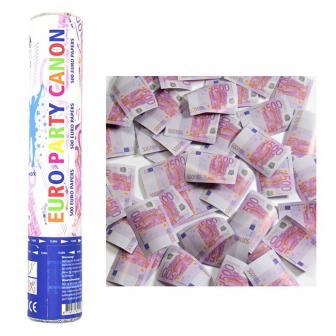 """Canon de confettis """"Billets de 500 euros"""" 27,5 cm"""