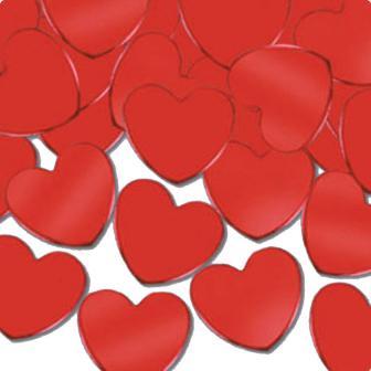 """Confettis"""" Cœurs rouges"""" 28 g"""