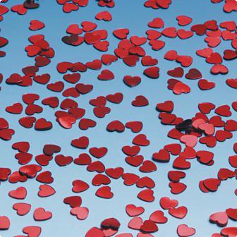 """Confettis """"Cœurs rouges métalliques"""" 15 g"""