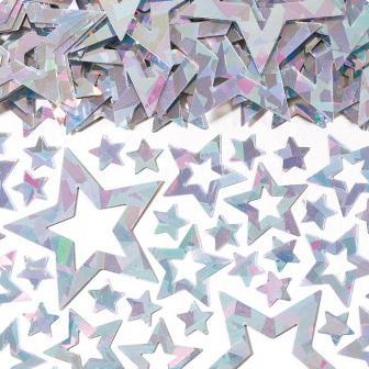 """Confettis """"Pluie d'étoiles"""" 15 g - argent"""