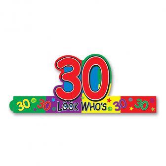 """Coiffe d'anniversaire """"30 ans"""""""