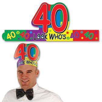 """Coiffe d'anniversaire """"40 ans"""""""