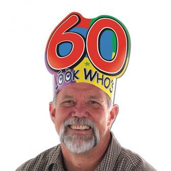 """Coiffe d'anniversaire """"60 ans"""""""