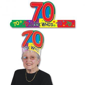 """Coiffe d'anniversaire """"70 ans"""""""