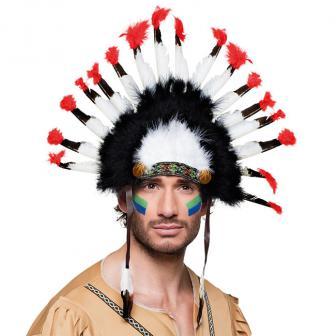 Coiffe Indien Mohawk 34 cm
