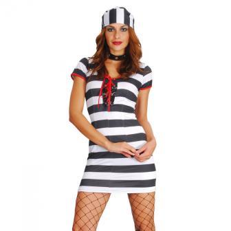 """Costume """"Prisonnière sexy"""" 2 pcs"""