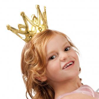 Petite couronne dorée 9 cm