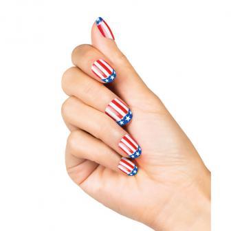 """Faux ongles """"USA"""" 24 pcs."""