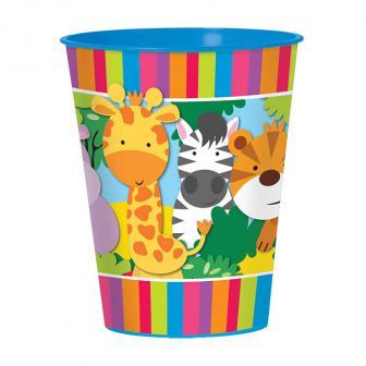"""Gobelet en plastique """"Adorables animaux de la jungle"""" 473 ml"""