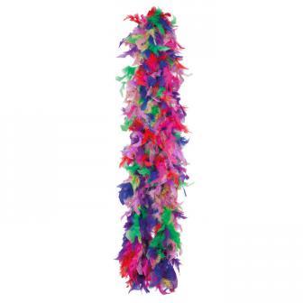 Boa à plumes multicolores 190 cm