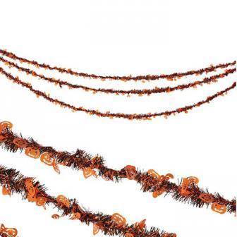 """Guirlande de cheveux d'ange """"Citrouille"""" 4,27 m"""
