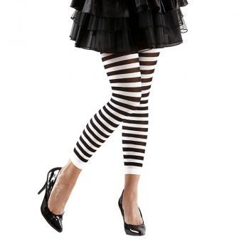 Leggings noir-blanc