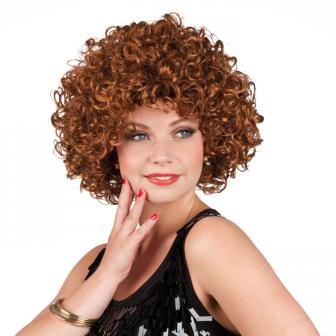 """Perruque de cheveux bouclés """"Super-Susi"""" - marron"""