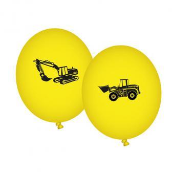 """8 ballons de baudruche """"Travaux"""""""