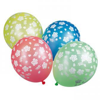 "5 ballons ""Fleur d'hibiscus"""