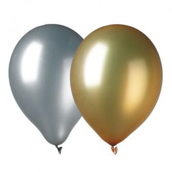 9 ballons de baudruche métallisés