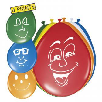 "8 ballons ""Visage souriant"""
