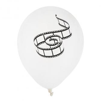 "8 ballons de baudruche ""Pellicule de cinéma"""