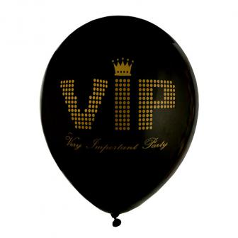 "8 ballons de baudruche ""VIP - Very Important Party"""