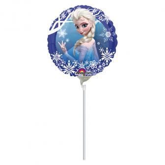 """Ballon en aluminium gonflé """"Anna & Elsa"""" 17 cm"""
