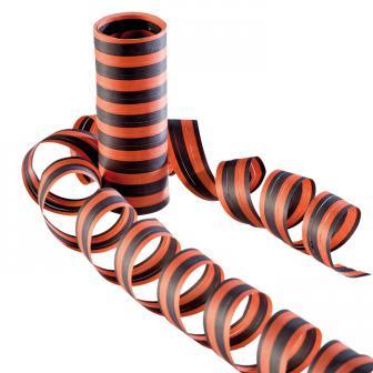Rouleaux de serpentins orange & noirs