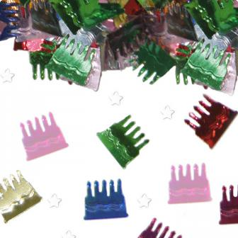 """Confettis métallisés """"Gâteau d'anniversaire"""" 14 g"""