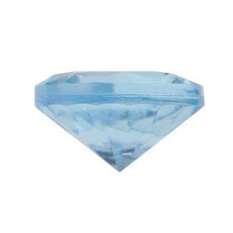50 mini diamants de déco - turquoise