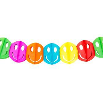 """Mini guirlande """"Smileys multicolores"""" 2 m"""