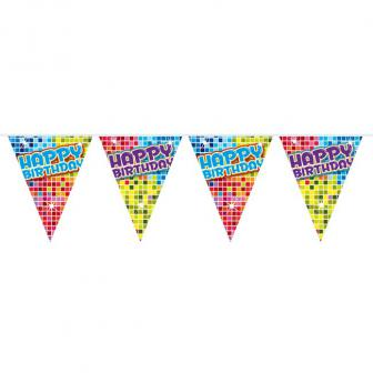 "Mini guirlande de fanions ""Happy Crazy Birthday"" 3 m"