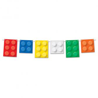 """Guirlande de motifs """"Briques hautes en couleur"""" 1,83 m"""