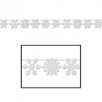 """Guirlande à motifs """"Cristaux de neige"""" 366 cm"""