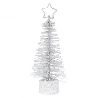 """2 marque-places """"Petit sapin de Noël scintillant"""" - blanc"""