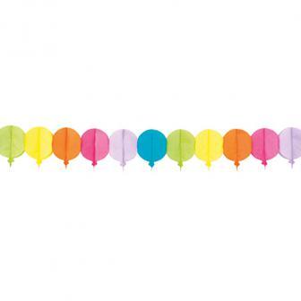 """Guirlande de papier """"Ballons colorés"""" 4 m"""