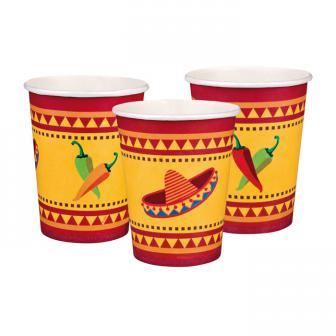 "6 Gobelets en carton ""Happy Fiesta"""