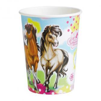 """8 gobelets en carton """"Charming Horses"""""""