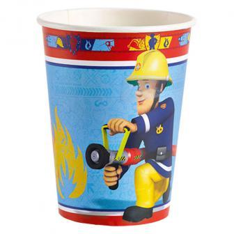 "8 gobelets en carton ""Sam le pompier"""