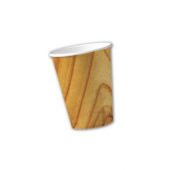 "10 gobelets en carton ""Effet bois"""