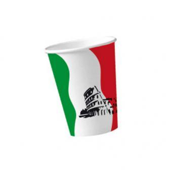 """10 gobelets en carton """"Italie"""""""