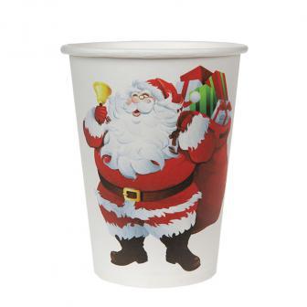 """10 gobelets en carton """"Joyeux Noël"""""""