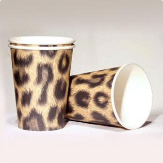 """10 gobelets en carton """"Look léopard"""""""