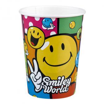 """8 gobelets en carton """"Drôles de smileys"""""""