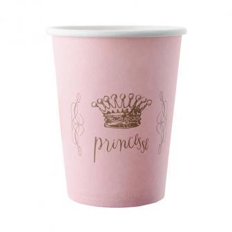 "6 gobelets en carton ""Pretty Princess"""