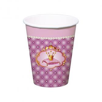 "6 gobelets en carton ""Vie de princesse"""