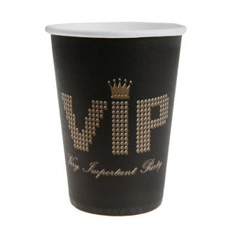 "10 gobelets en carton ""VIP - Very Important Party"""