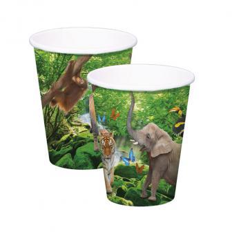 """8 gobelets en carton """"My Safari Party"""""""