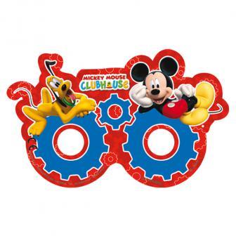 """6 masques en carton """"Le Club de Mickey Mouse"""""""