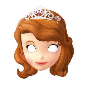 """6 masques en carton """"Princesse Sofia"""" 6 pcs."""