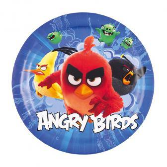 "8 assiettes en carton ""Angry Birds -  Le film"""