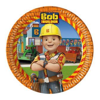 """8 assiettes en carton """"Bob le bricoleur - nouvelle aventure"""""""